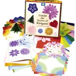 Unfold the Secrets of Kirigami Box Kit Instruction Book and Paper