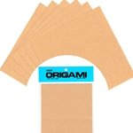 Solid Color Origami Paper-NATURAL BROWN 6""