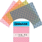 Lacy Washi Check Pattern Origami Paper 6""