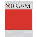 Origami Paper Pack - MIXED SOLID COLORS - 9.75""