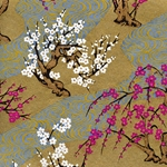 "Chiyogami Yuzen Origami Paper Pack 6"" x 6"" Sheets (4 Pack) - CHERRY BLOSSOMS"