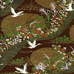 "Chiyogami Yuzen Origami Paper Pack 6"" x 6"" Sheets (4 Pack) - FLYING CRANE"