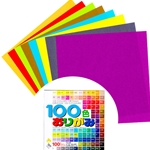 Origami Paper 100 Colors Pack 3""