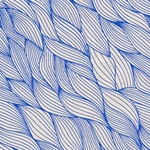 Lokta Paper Origami Pack - Wave - BLUE ON NATURAL