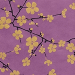 Lokta Paper Origami Pack - Blossom - GOLD ON PURPLE