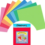 Origami Paper Pack - MIXED SOLID COLORS - 12""