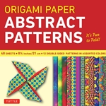 "8"" Origami Paper and Instruction Kit - ABSTRACT PATTERNS"