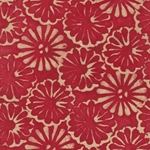 Lokta Paper Origami Pack - Batik Floating Flower - RED