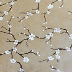 Lokta Paper Origami Pack - Peach Blossom - WHITE ON LIGHT BROWN