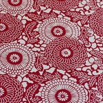 Lokta Paper Origami Pack - Silkscreened Nepalese Lokta Paper - Dahlia - RED ON CREAM