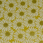 Lokta Paper Origami Pack - Silkscreened Nepalese Lokta Paper - Daisy - WHITE ON YELLOW