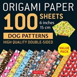 Origami Paper Pack - DOUBLE SIDED DOG PATTERNS - 6""