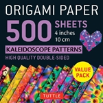 Origami Paper Pack - DOUBLE SIDED KALEIDOSCOPE PATTERNS - 4""