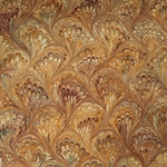 Italian Marbled Origami  Paper - PEACOCK - Orange