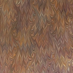 Italian Marbled Origami Paper - TWILLED - Brown/Orange