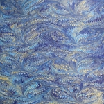 Italian Marbled Origami Paper - BIRD WING - Bright Blues/Gold