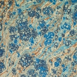 Italian Marbled Paper - VEIN - Blue/Brown
