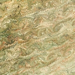 Italian Marbled Origami Paper - SPIRAL - Olive Green
