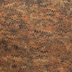 Italian Marbled Origami Paper - COMBED - Brown/Black
