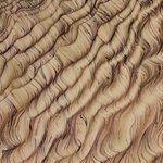 Italian Marbled Paper - STRIPED MOIRE - Brown
