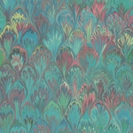 Italian Florentine Origami Paper - MARBLED PEACOCK PLUMES