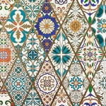 Italian Florentine Origami Paper - STAINED GLASS DIAMONDS