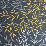 Screenprinted Mulberry Origami Paper - Willow Leaf - SILVER, GOLD, MIDNIGHT BLUE