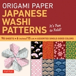 "6"" Origami Paper and Instruction Kit - JAPANESE WASHI PATTERNS"