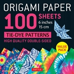"6"" Origami Paper and Instruction Kit - TIE-DYE PATTERNS"