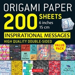 "6"" Origami Paper and Instruction Kit - INSPIRATIONAL MESSAGES"