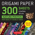 "4"" Origami Paper and Instruction Kit - JAPANESE WASHI"
