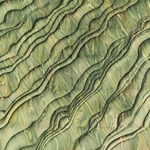 Italian Marbled Origami Paper - STRIPED MOIRE - Green