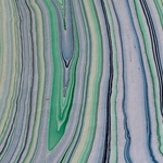 Thai Marbled Origami Paper - BLUE/GREEN