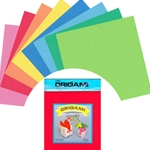 Origami Paper Pack - MIXED SOLID COLORS - 7""