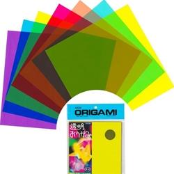 Plastic Transparent Origami sheets 15 cm