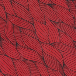Lokta Paper Origami Pack - Wave - BLACK ON RED