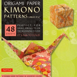 Finally, an origami kit for beginners and experts alike. The large, 8.25 inch sheets make easy folding for beginners as they follow the included instructions. The specialty prints and solid color reverse on these papers will thrill experts with new designs and patterns for their art. The 48 sheets in this kit feature details inspired by classic Japanese Kimono patterns. On the reverse of each sheet is a solid, complimentary color. Finishing up the kit are instructions providing an introduction to basic origami folding techniques and instructions for 6 different projects.