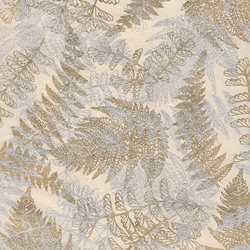 Lokta Paper Origami Pack - Fern - GOLD/SILVER ON CREAM