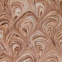 Italian Marbled Origami Paper - FLOW - Cream/Brown/Silver