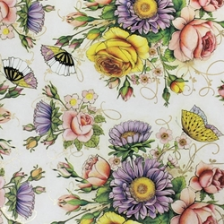 Italian Florentine Origami Paper - VICTORIAN BUTTERFLY