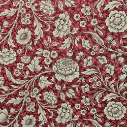 Italian Carta Varese Paper - FLORAL - Red