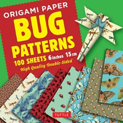 "6"" Origami Paper and Instruction Kit - BUG PATTERNS"