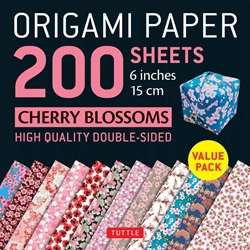 "6"" Origami Paper and Instruction Kit - CHERRY BLOSSOMS"