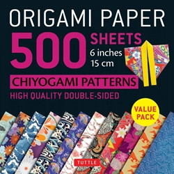 "6"" Origami Paper and Instruction Kit - CHIYOGAMI PATTERNS"