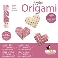 "8"" Origami Paper - Funny Origami - HEARTS"