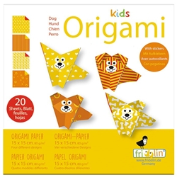 "6"" Kids Origami Paper Pack - DOG"