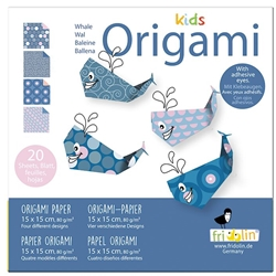 "6"" Kids Origami Paper Pack - WHALE"