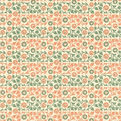 Italian Carta Varese Origami Paper - Flowers - GREEN AND ORANGE
